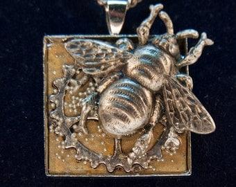 Steampunk Bumblebee Pendant