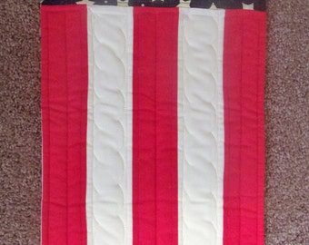 Primitive Whimsical Patriotic Americana Door Flag Greeter or Table Runner