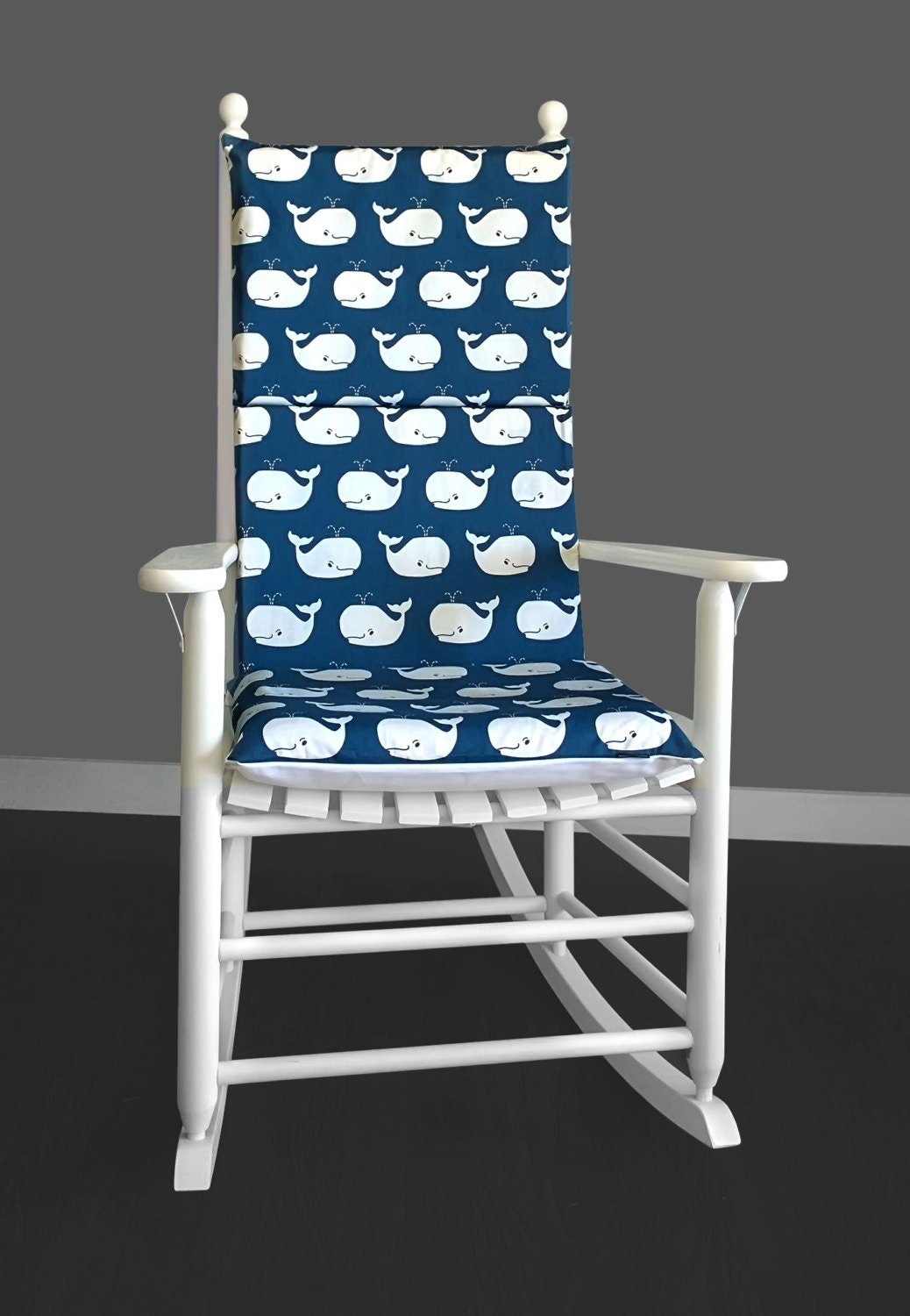 kids nursery room rocking chair cushion cover whales rocking