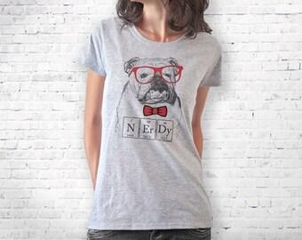 English bulldog T-shirt-Bulldog t-shirt-nerdy t-shirt-dog t-shirt-funny quote tee-tank top-gift for dog lover-quote tee-NATURA PICTA-NPTS022