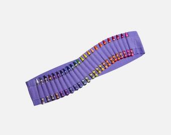 Kids Crayon Bandolier | Lavender Purple