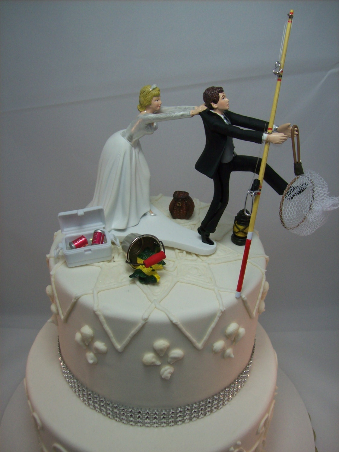 wedding cakes toppers funny no fishing come back wedding cake topper and 25734