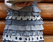Ruffle Apron, half apron, skirt apron, ruffles, kitchen apron