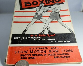 Vintage Boxing Booklet Scientific Boxing by A Fistic Expert 1941 Illustrated 63 Pages Stapled Paperback Collectible Sports Instruction Book