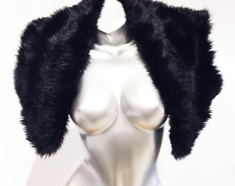 Play in Style - Reversible Fun - 2 in 1 -  Black Mink Faux Fur Reverses to Silver Foiled Fur