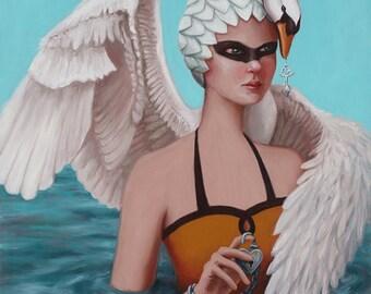 Swan Maiden - Fine Art Print