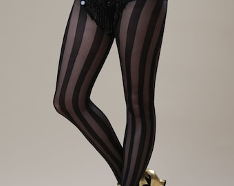 Black Stripe Tights
