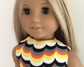 Wavy Colors Dress and Sash for the American Girl Doll