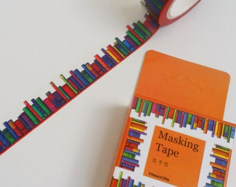 Colourful Library Book Washi Tape