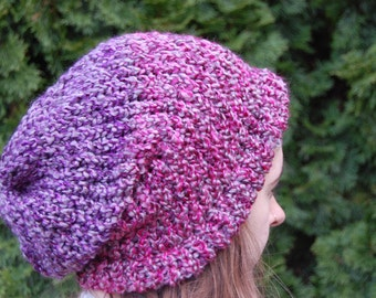 A Multi Color Knit Slouchy Beanie