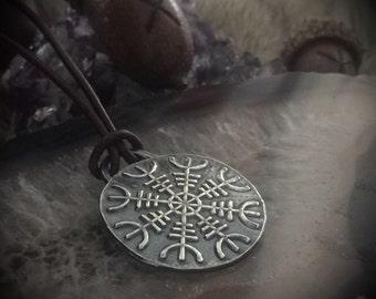 Helm of Awe Pendant - Viking Rune Jewelry - Viking Mens Jewelry - Viking Women - Norse Necklace - Rune Jewelry