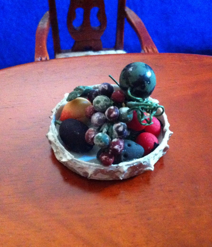 D h fruit basket centerpiece in dollhouse by