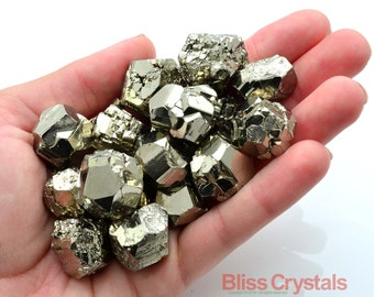 1 Medium EQ PYRITE Nugget Stone Cube Chunk Crystal Healing Peru Fools Gold Raw Pyrite Nugget Jewelry & Crafts #FL1