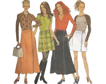 Simplicity 6692 Easy to Sew Wrap Skirt Pattern in Different Lengths Size 6-12 Waist 23 to 26 1/2