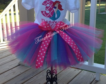 Mermaid tutu birthday outfit - pick your birthday number