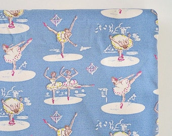 Ballerina Fabric, Childrens Fabric, Girls Fabric, Extra wide Cotton Canvas Fabric