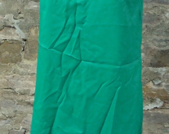 TRUE GREEN shift DRESS vintage 1960's 60's mod M