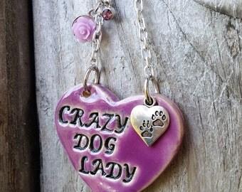 Crazy Dog Mom - Ceramic Ornament