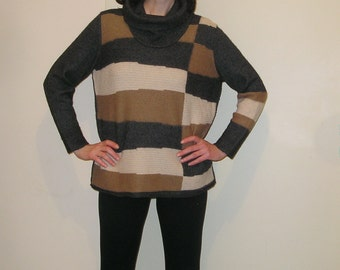 Vintage Wool-Acrylic Turtleneck Sweater size S-M