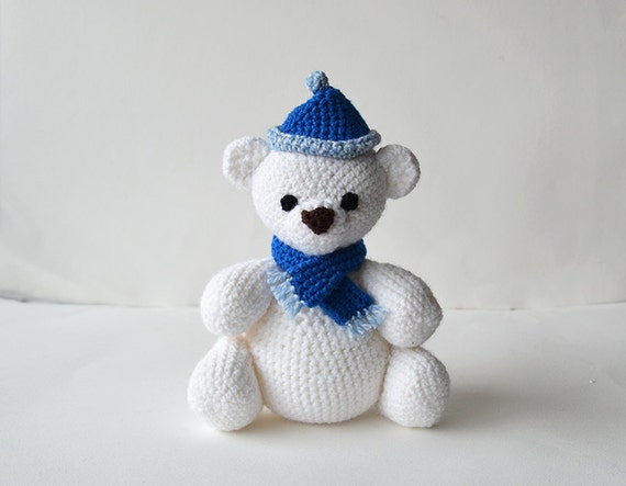 Free Amigurumi Crochet Patterns Fox : Polar Bear Crochet Pattern Bear Amigurumi Pattern Crochet