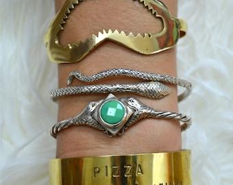 Snake Bangle|Cuff|Heart Majestic|Sterling Silver Bangle|Snake Jewelry|Snake Bangle|Danity Bangle|Mid Arm Bangle|Snake Cuff