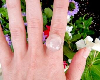 Rose Quartz Ring / Healing Jewelry / Statement Rings / Boho Rings