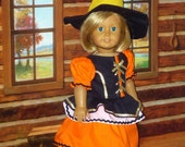 Candy Corn Witch Halloween Costume fits American Girl Dolls