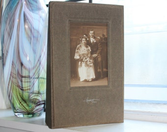 Antique Photograph Victorian Wedding Portrait 11 x 7