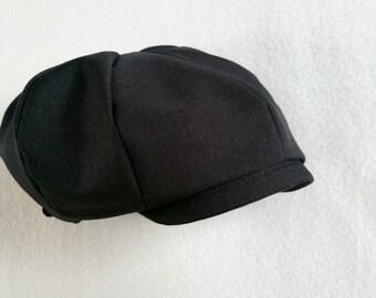 Black Cap, Baby boy hat, boys newsboy, baby newsboy cap, baby ring bearer, black ring bearer, black boys hat, black boys cap, baby hat black