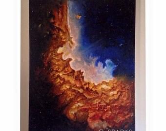Wizard Nebula Oil Painting - 18x24 - Space Art