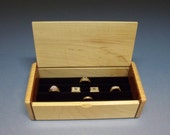 Maple  Ring Organizer, Ring Storage, Wooden Jewelry Box,