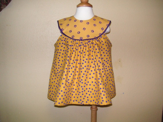 Items similar to lsu baby lsu tigers baby girl clothing lsu baby girls dress of gold with