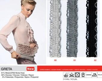 Clearance 50% Off  1x50g/1.76oz Greta Accessory, Trim yarn by Katia Spain