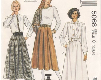 1990 - McCalls 5068 Vintage Sewing Pattern Sizes 10/12/14 Cut To Fit Easy 90 Minute Pattern Skirt Pockets
