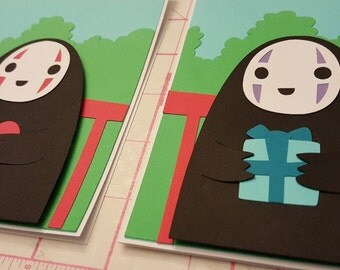 No Face - Blank-inside Greeting Card