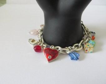 Silver Tone Vintage Charms Bracelet