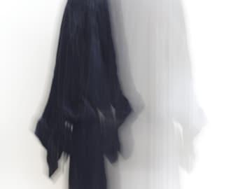 SASHA // Vintage Velvet Frock Coat // Dark Blue Velvet Long Jacket