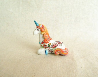 Magic Unicorn figurine. One of a kind.