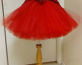 FREE SHIP 2T Little Red Riding Hood Tutu Tulle Dress Cape Flower Outfit Costume Baby  Tube Top Christmas SALE Black Friday Cyber Monday
