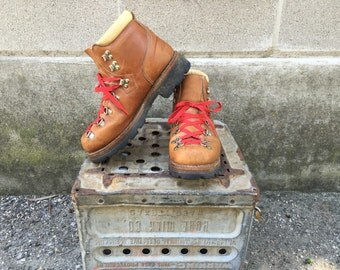 80s RARE Scats by Gallenkamp leather wook boots/hiking boots SZ 7 D