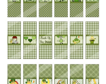 Digital Printable Hershey Nugget Candy Wrappers  Saint Patricks Day Theme