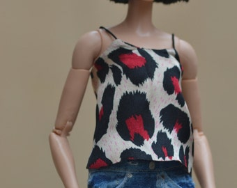 Faded and Distressed Denim Shorts for 12in Fashion Dolls