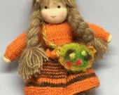 "Sweet doll in Waldorf style -  ""Keto"" | Size approx. 27 cm - Wool, cotton, felt, rayon"
