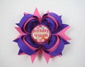 Birthday Hair Bow - Purple and Pink Birthday Hair Bow - 1st 2nd 3rd 4th 5th Birthday Hair Bow - Birthday Girl Hair Bow - Happy Birthday Bow
