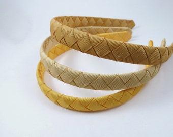 Gold Woven Headbands SET - Toffee Headband - Gold Headband - Headband - Headband Gift Set - Child Toddler Teenager Adult Headband
