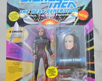 Vintage Star Trek The Next Generation K'ehleyr Action Figure Klingon Ambassador To The Federation Playmates 6070 6059 1993 - Enterprise