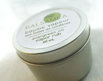 Evergreen oil Vapor Rub 60 mL/ Baume Vapeur aux huiles de conifères