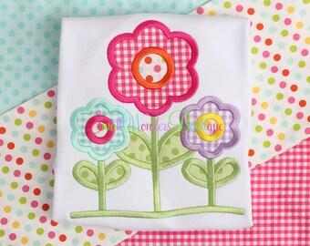 Spring Flowers Shirt - Girls Flower Shirt - Flower Shirt - Spring Flowers - Flower - Spring - Summer - Girls Shirt