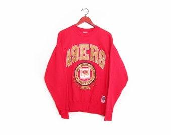 vintage sweatshirt / San Francisco 49ers / NFL / 1990s SF 49ers Football Club sweatshirt Medium