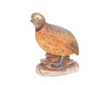 Vintage Harlequin Quail Figurine Angeline Original Hand Painted Made in Japan Porcelain Bird Statue
